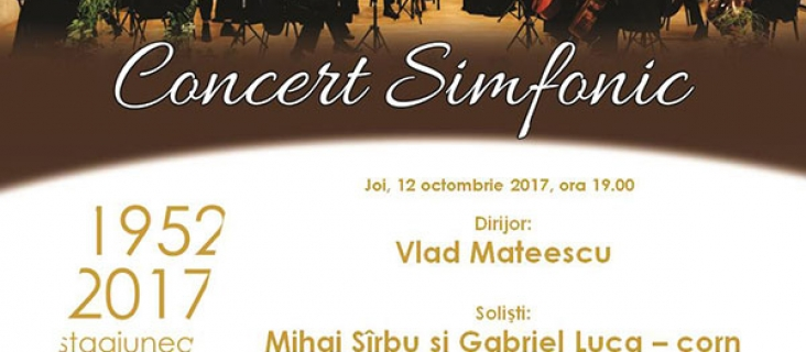 Concert simfonic - 12 octombrie 2017