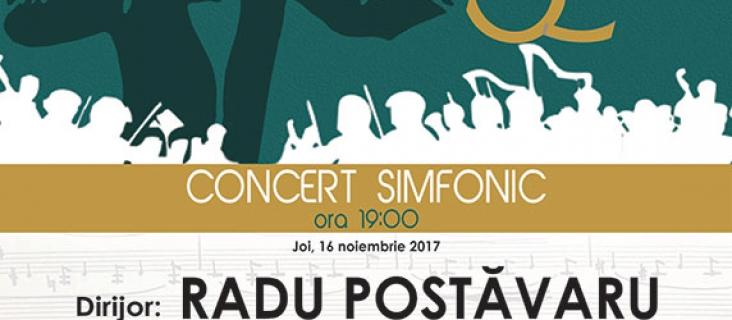 Concert simfonic extraordinar - 16 noiembrie 2017
