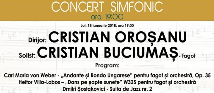 Concert simfonic - 18 ianuarie 2018