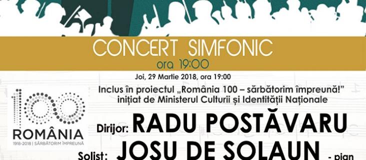 Concert simfonic - 29 martie 2018
