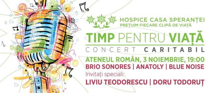 Timp pentru Viata - Concert Caritabil in beneficiul HOSPICE Casa Sperantei