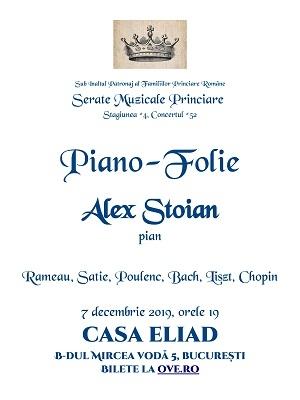 Serată Muzicală Princiară - Alex Stoian, pian