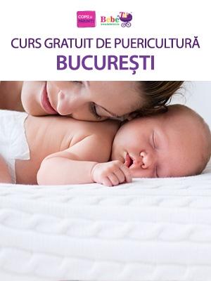 CURS GRATUIT DE PUERICULTURĂ BUCUREȘTI - 31 Ian.