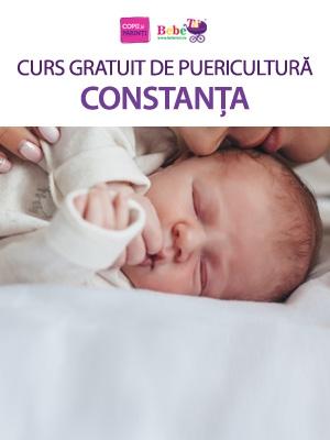 CURS GRATUIT DE PUERICULTURĂ CONSTANȚA - 25 Mar.