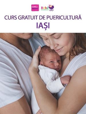 CURS GRATUIT DE PUERICULTURĂ IAȘI - 23 Mar.