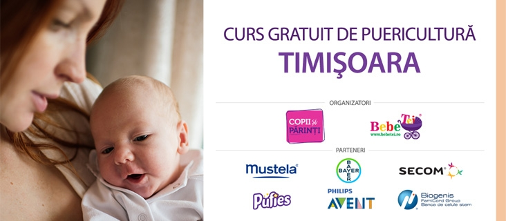 CURS GRATUIT DE PUERICULTURĂ TIMIȘOARA - 11 Mar.
