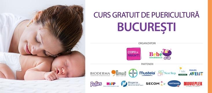 CURS GRATUIT DE PUERICULTURĂ BUCUREȘTI - 21 Feb.