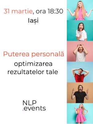 ANULAT - Puterea personală - Optimizarea rezultatelor tale - Workshop NLP.Events (10.03.2020)