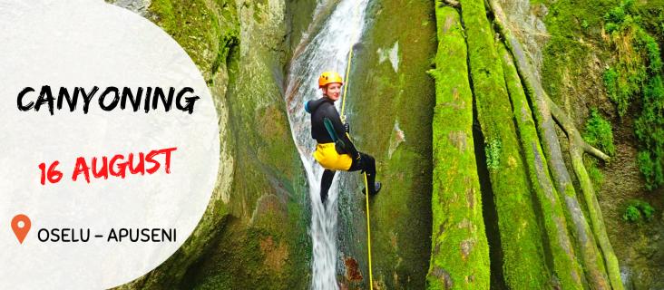 Aventura in Apuseni - Canioning 16.august.2020